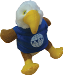 "5 "" Stuffed Eagle w/ IAAO Logo"