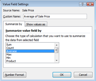 Finalize Pivot Table